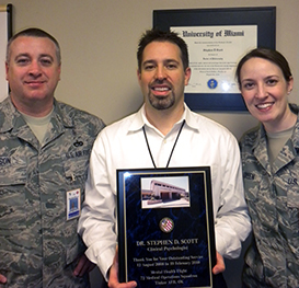 Dr. Scott_Airforce_Outstanding Service Plaque